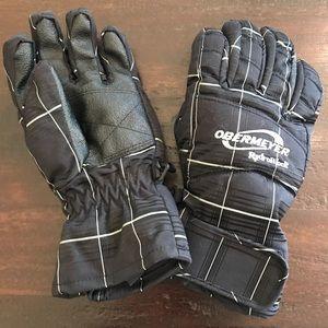 Obermeyer Hydroblock Black Ski Gloves M
